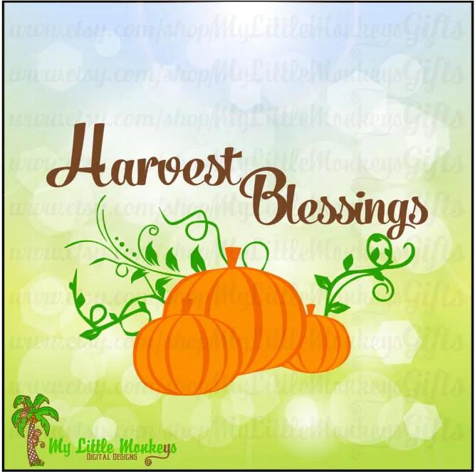 Fall Blessings Clip Art