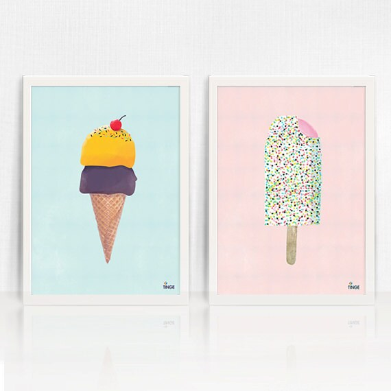 ice cream themed office