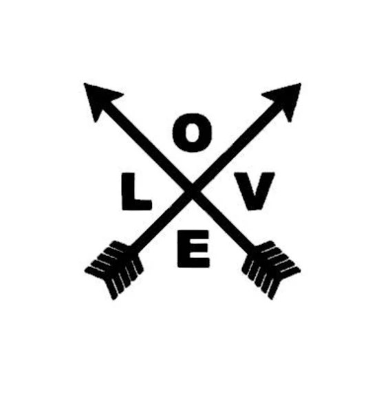 Download Love Arrows instant download cut file - SVG DXF EPS ps ...