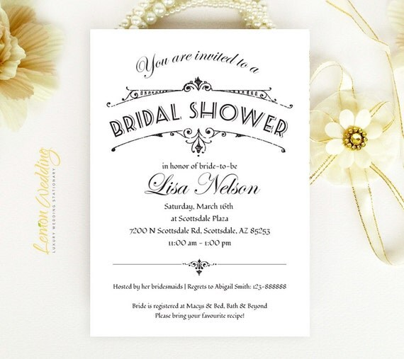 Personalized Bridal Shower Invitations Cheap