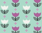Geometric Bliss by Jeni Baker for Art Gallery Fabrics -Vertex Tulips Mint - Yardage (1/4 Yard Minimum)