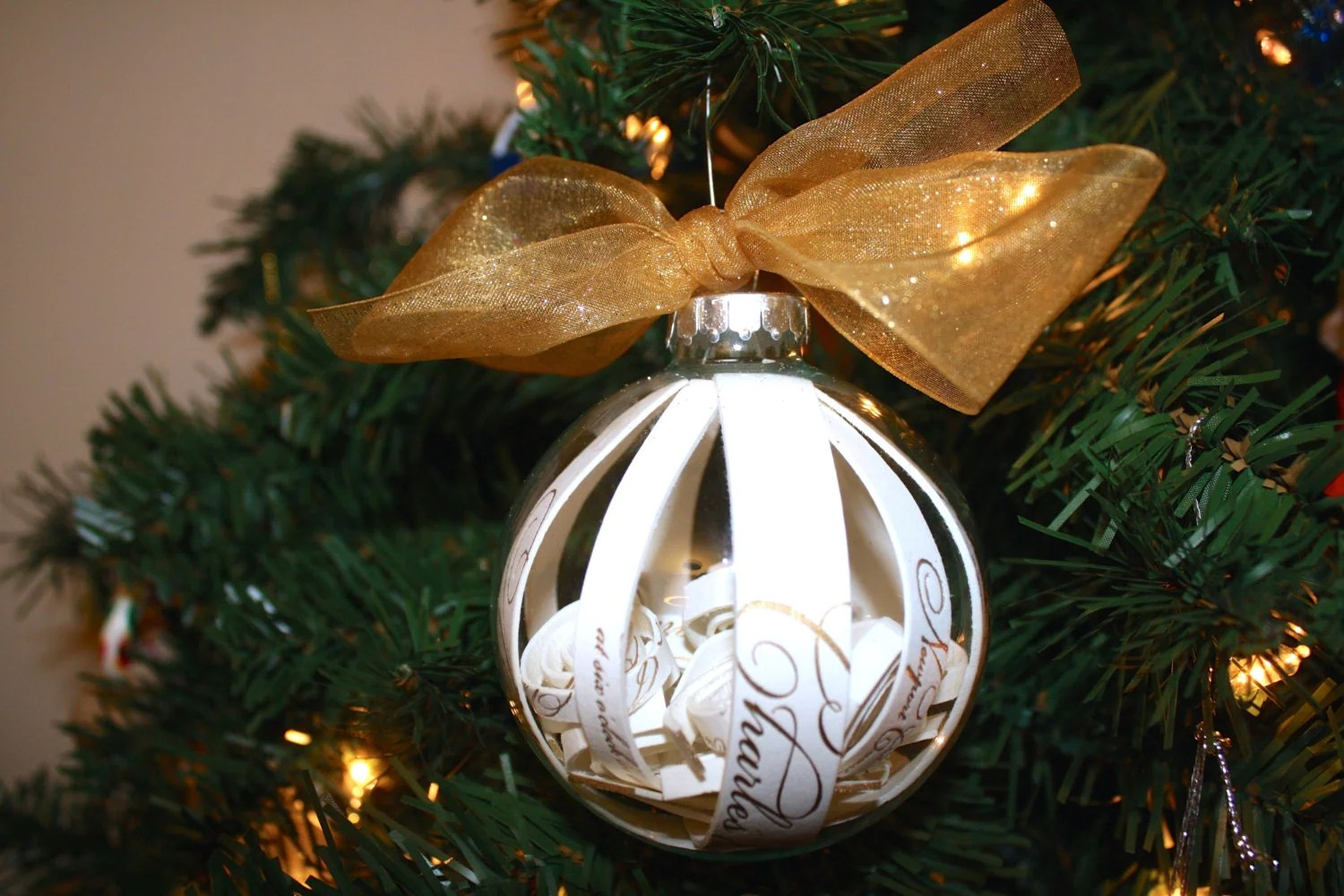 Wedding Gift Ornaments: Our First Christmas Ornament