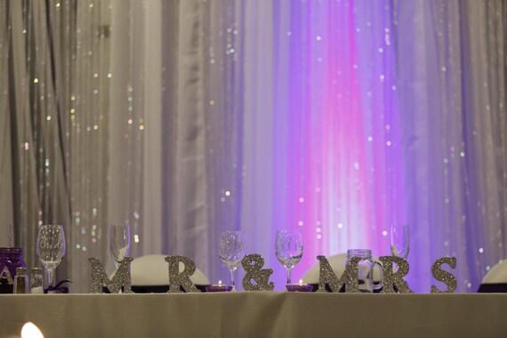 Silver Or Gold Mr & Mrs Glitter Wedding By BlingNbliss On Etsy