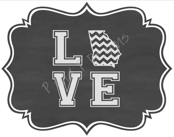 Download Love Georgia Chevron SVG & PNG - Instant Download from ...