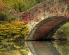 Gapstow Bridge, Central Park, New York City, Landscape Photograph, Reflection, Fall Foliage, Autumn, Fine Art Photography, Home Decor, HDR