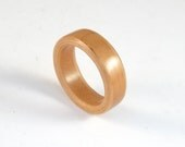 Pear Bent Wood Ring, Hand...
