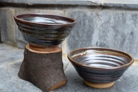 Set of 2 handmade ceramic bowls