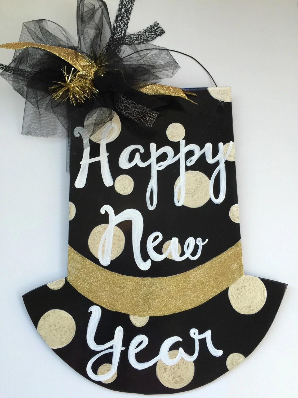 Happy New Year Door Hanger Hat