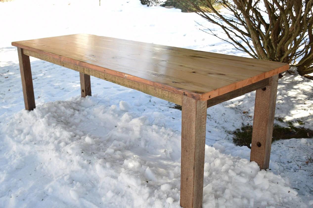 The Arianna Reclaimed Wood Farmhouse Dining Table Kitchen