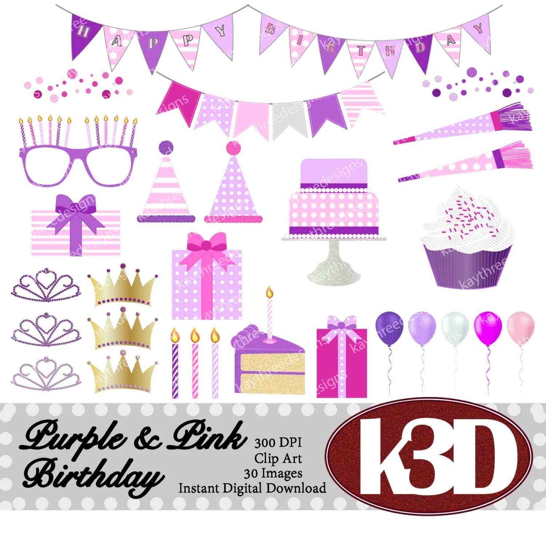 Happy Birthday Purple Art