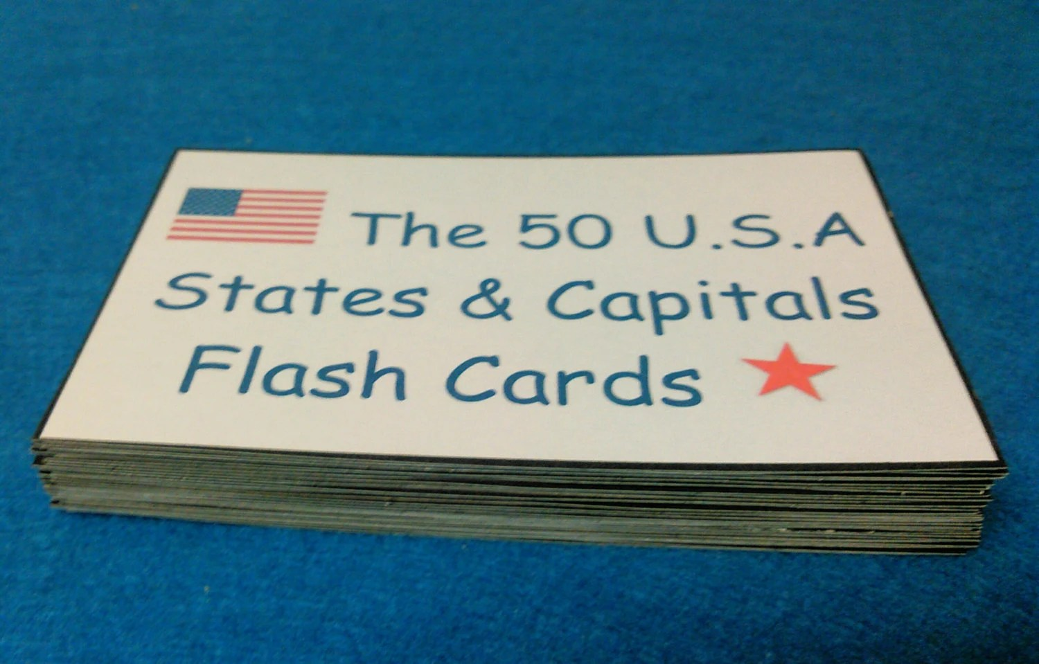 Usa States Amp Capitals Flash Cards Laminated State Capitals