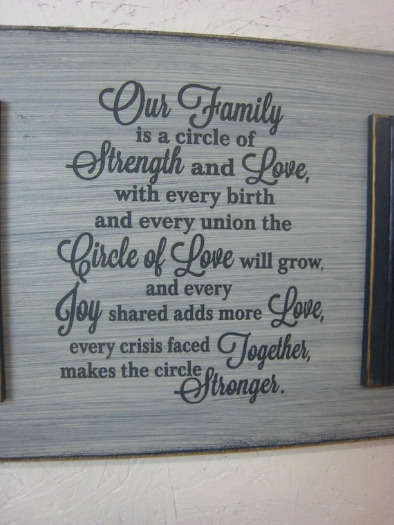 Download Our family is a circle of Strength and Love ...Circle of ...