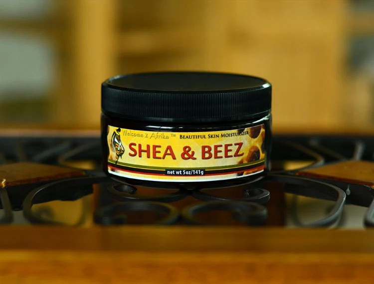 Shea & Beez  Raw Shea Butter and Beeswax Deep Moisturizer