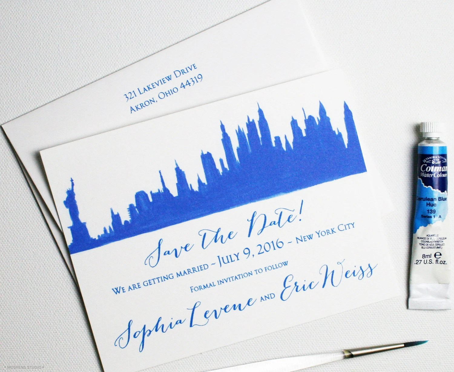 Unique save the dates custom save the date nyc skyline for Unique dates in nyc