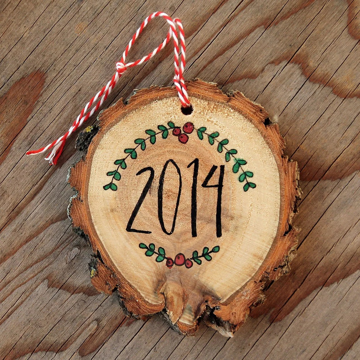 Personalized Pet Ornament Wood Slice Christmas by