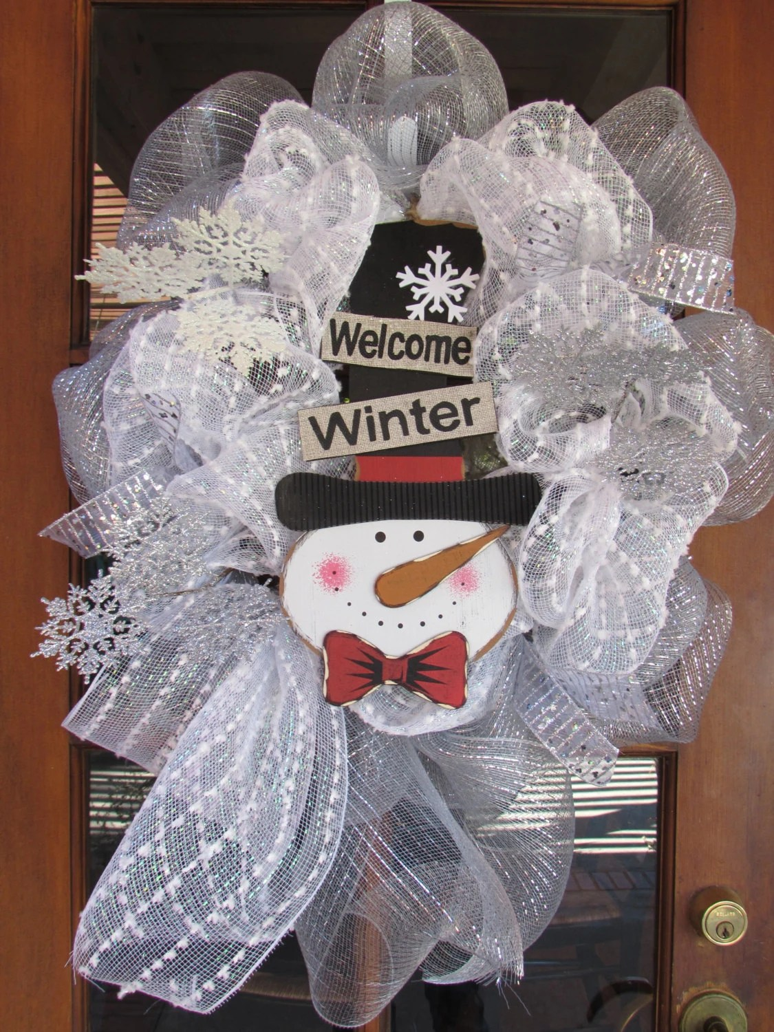 24 Christmas Wreath Deco Mesh Snow Winter Wreath