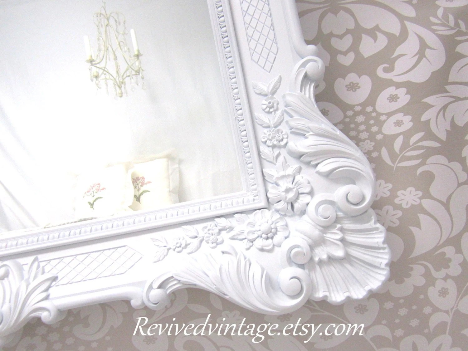 FRENCH COUNTRY MIRRORS For Sale Framed White Mirror