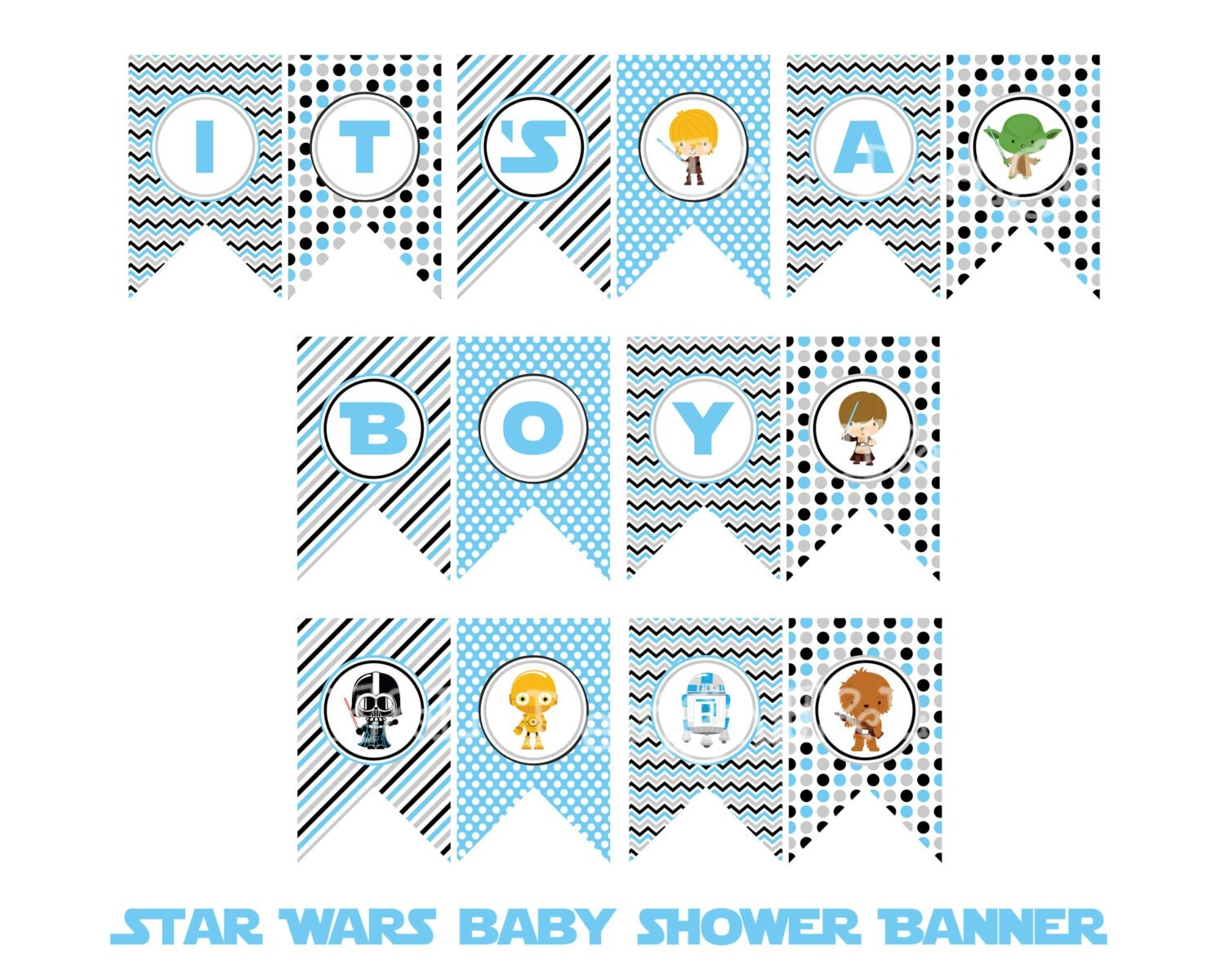 Star Wars It S A Boy Banner Star Wars Baby Shower