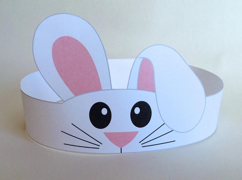 Bunny Paper Crown Printable
