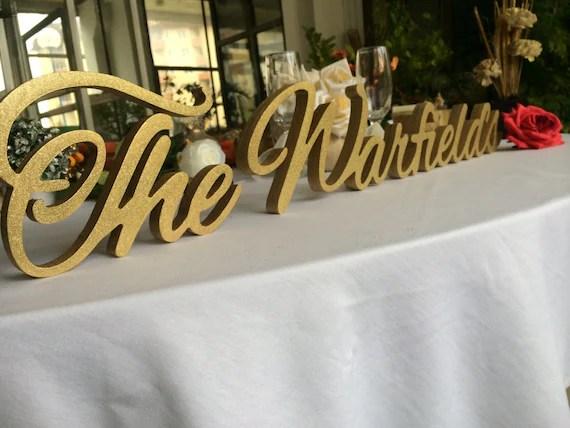 Custom Sign Family Name Wedding Decor Wood Sign Name Wooden