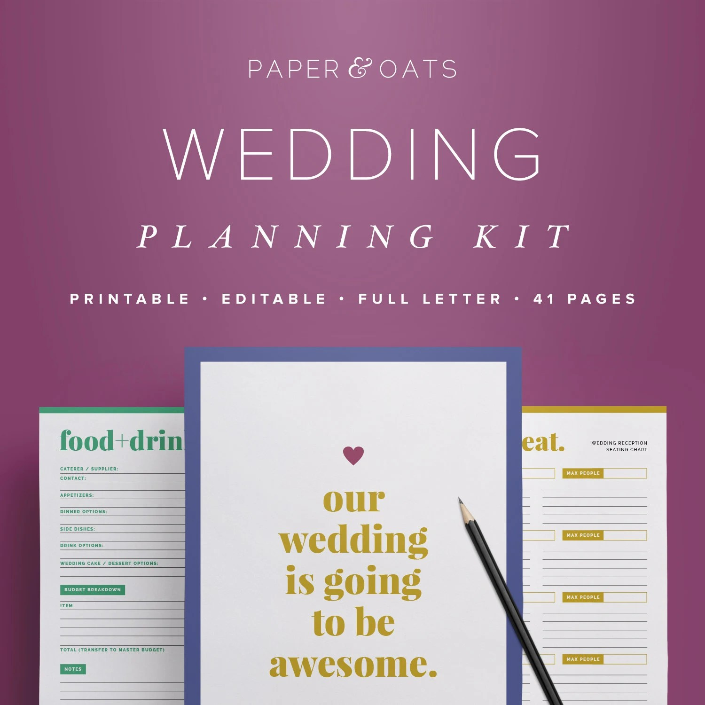 Wedding Planning Kit Editable Wedding To Do List By