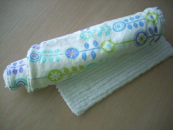 bump to baby flower burp cloth - FREE SHIPPING