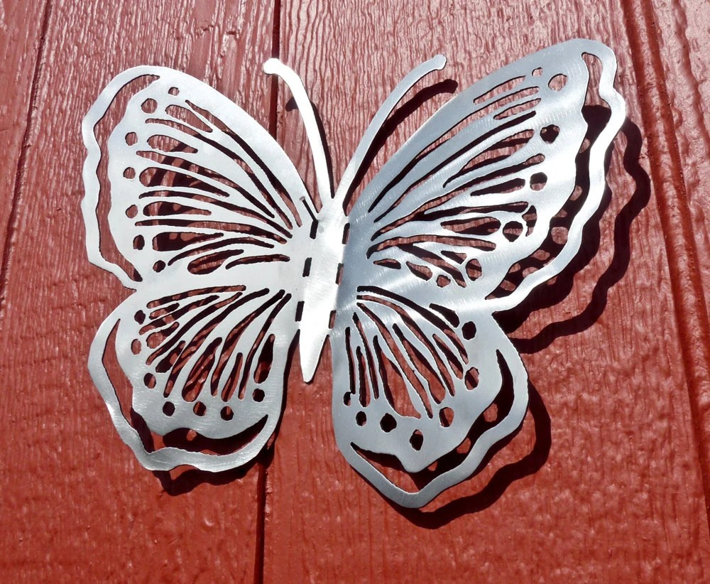 Items Similar To Butterfly Metal Wall Art Style 1