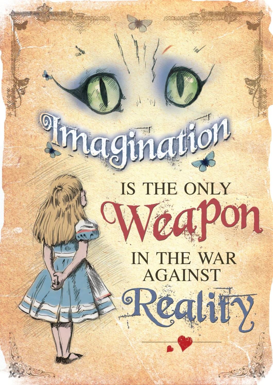 Alice In Wonderland A4 Printable Poster Art Mad Hatter Tea