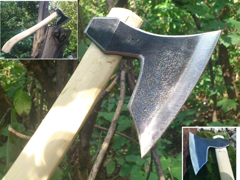 Forged Viking Hatchet Axe Wildlife Camping Bushcraft