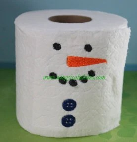 Toilet Paper Saying 49 Single Design Machine Embroidery File