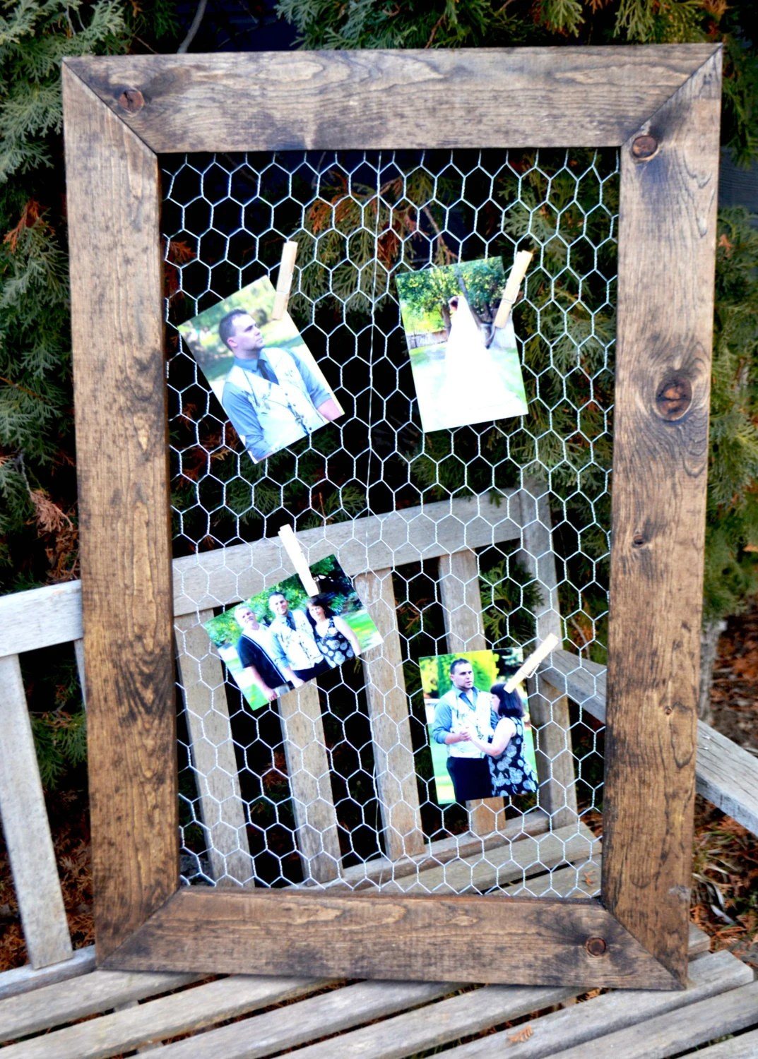 2 Chicken Wire Frames 24x36 Picture Frame Rustic