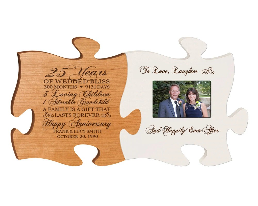 Personalized 25th Anniversary Gift For By DaySpringMilestones
