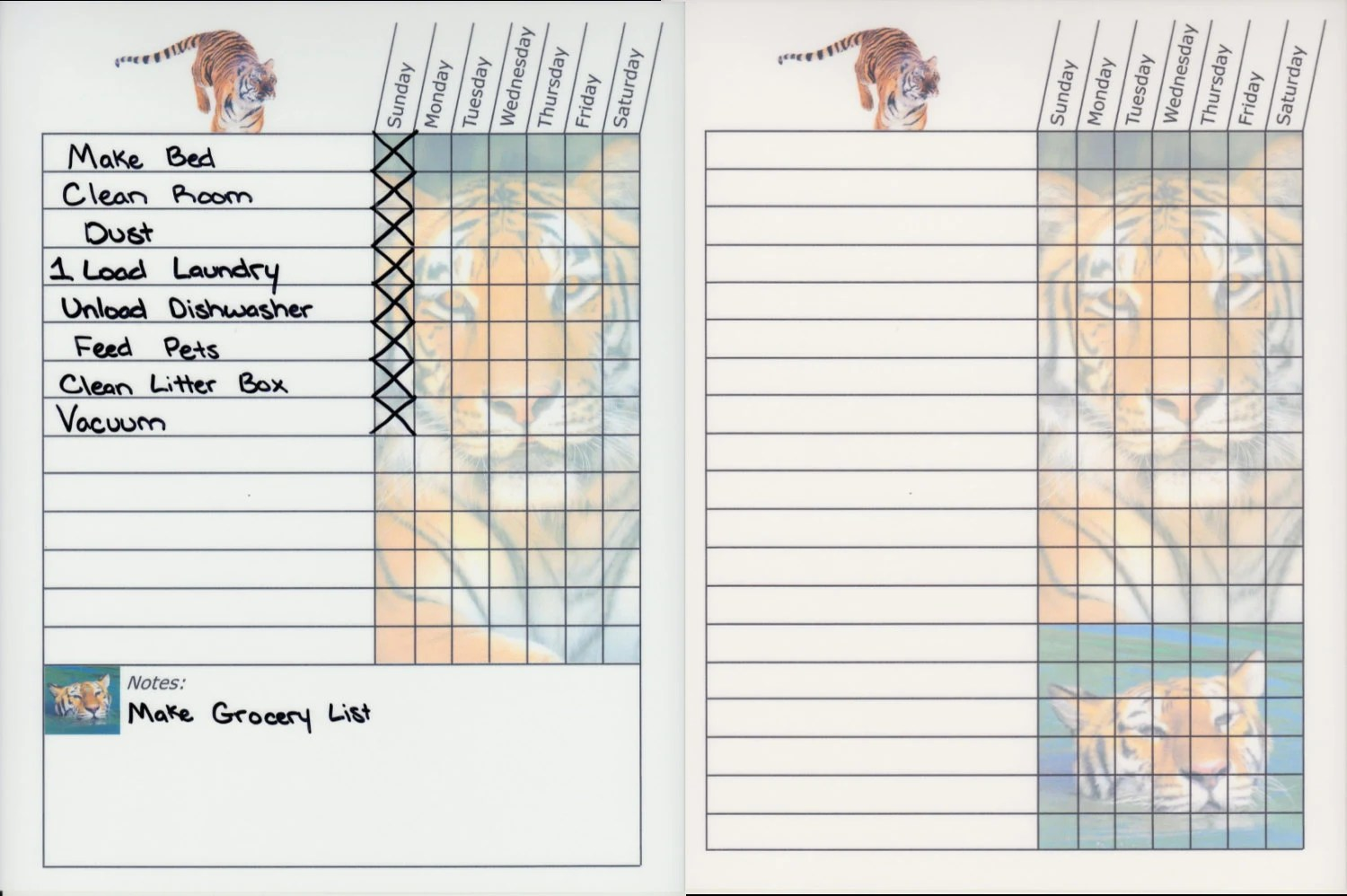 Teen Adult Chore Charts Dry Erase Board Magnetic To Do