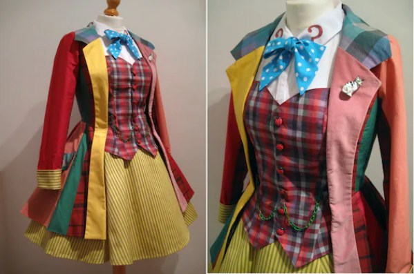 Femme Sixth Doctor Who Cosplay Colin Baker- Hand Made To Order - Jacket, Corset-Waistcoat, Necktie and Skirt