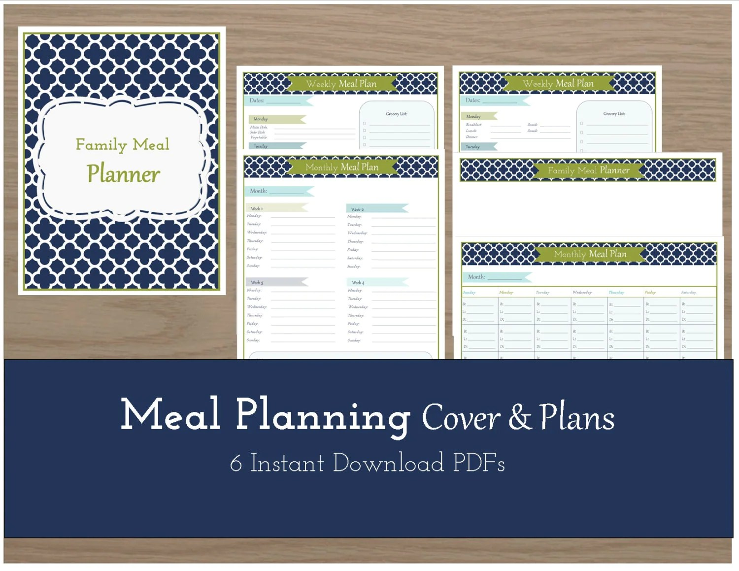 Meal Plan Worksheets Amp Cover Sheet Monthly By