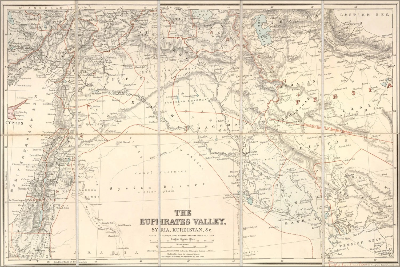 Map Euphrates River Near Israel