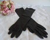 Vintage Black Kid Leather...