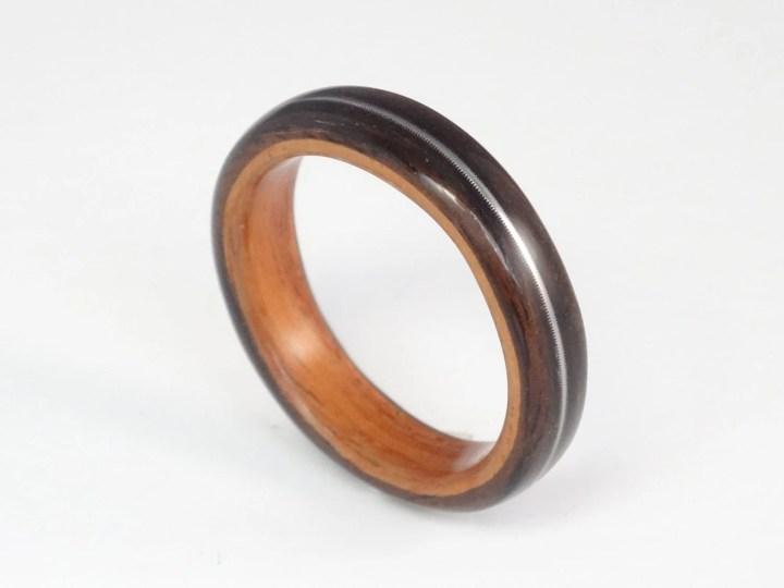 Wood Ring, Ebony & Padauk...