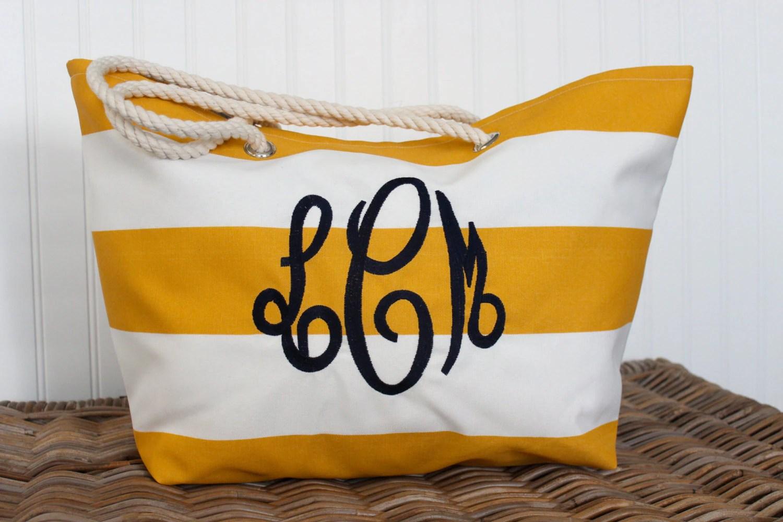 Personalized Beach Bag Large Tote Bag Bridesmaid Gift