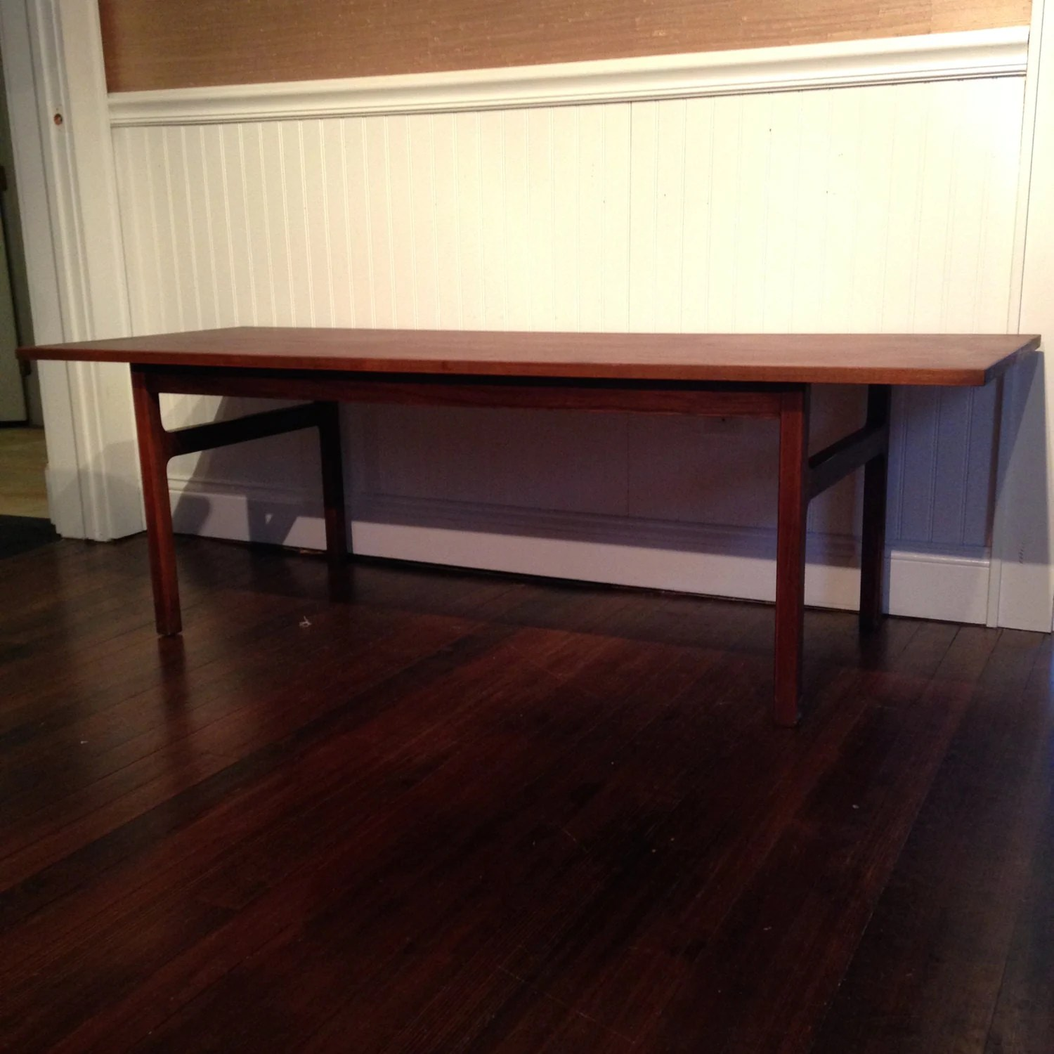 Vintage Danish Mid Century Modern Palisander Rosewood Coffee Table 485 Obo Free Nyc Delivery