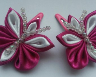 kanzashi butterfly on etsy a global handmade and vintage marketplace