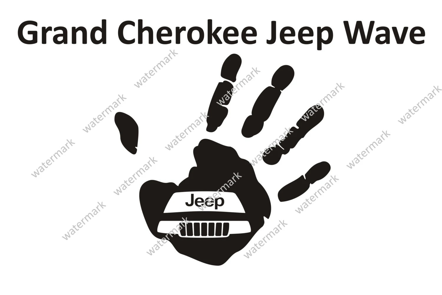 Jeep Grand Cherokee Logo Jeep Wave Decal Sticker By Robnmon