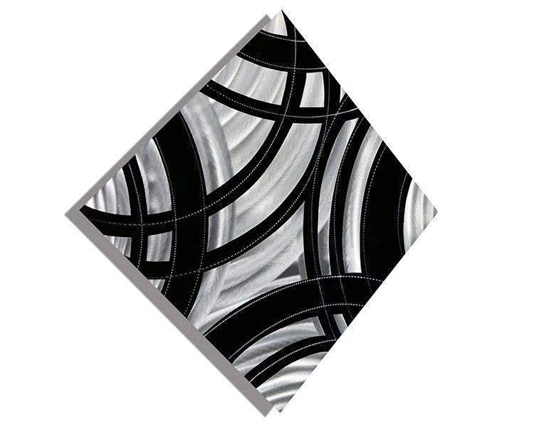 Items Similar To Silver Contemporary Metal Wall Art