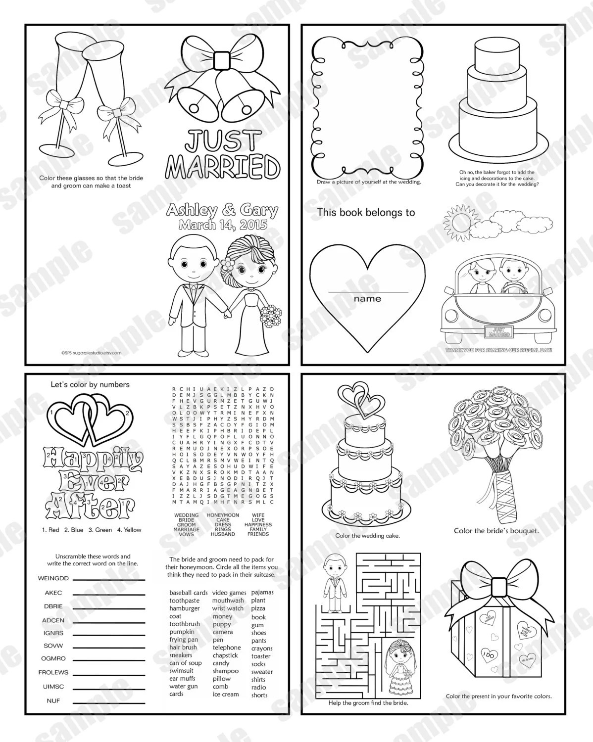 Mini Coloring Book Template
