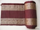 Marsala / Maroonish Brown and Silvery Gold Brocade Vintage Sari Trim / Border Sold by Yard