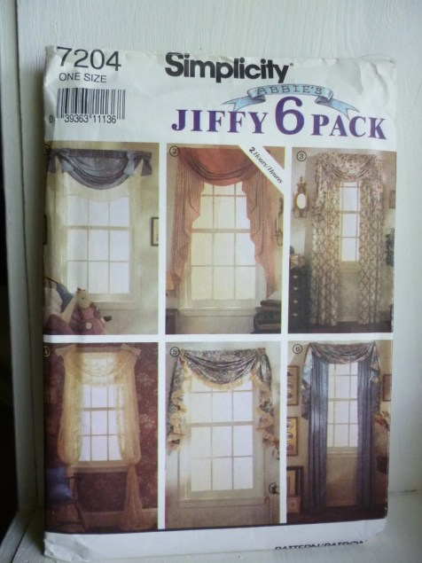 Simplicity Home 7204 NEW Uncut Sewing Pattern Window Treatments Jiffy 6 Pack | Jungleland Vintage on Etsy