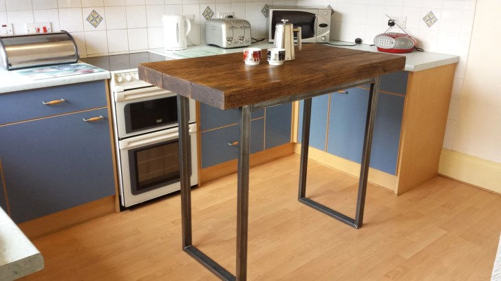 Rustic Breakfast Bar Table Kitchen Island Redcottagefurniture