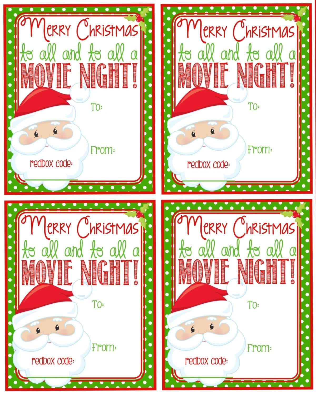 Printable Christmas Redbox T Tag Merry Christmas And To