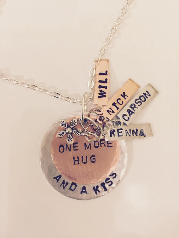 Personalized Hand Stamped  Mother or Grandmother Keepsake Necklace