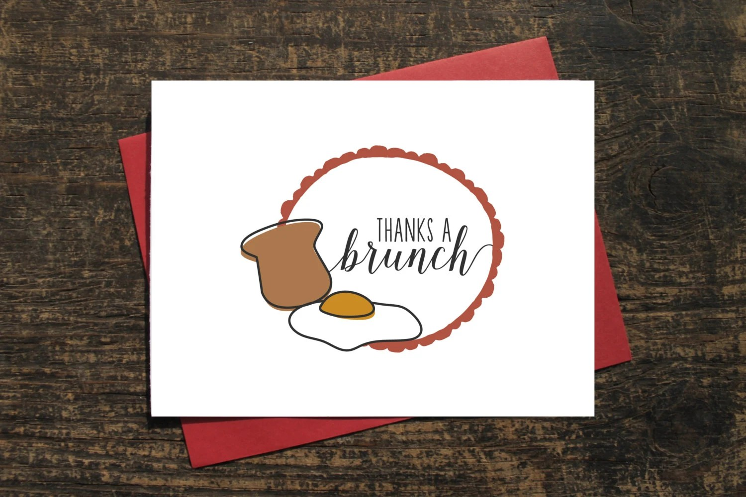 Items Similar To Thanks A Brunch Quote Card Pun Thank You